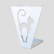 RAIN UMBRELLA STAND ERGAL CAT CERAMIC WHITE HYPOALLERGENIC DESIGN HOME